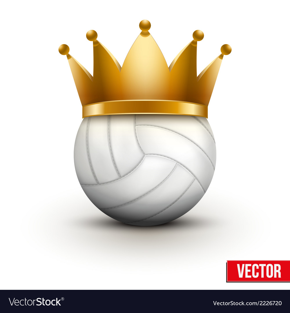 Volleyball ball with royal crown vector | Price: 1 Credit (USD $1)