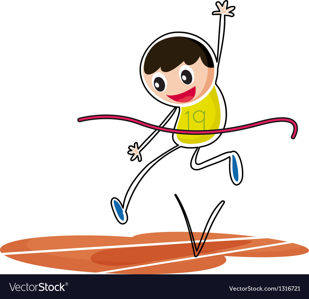 A kid jumping vector | Price: 1 Credit (USD $1)