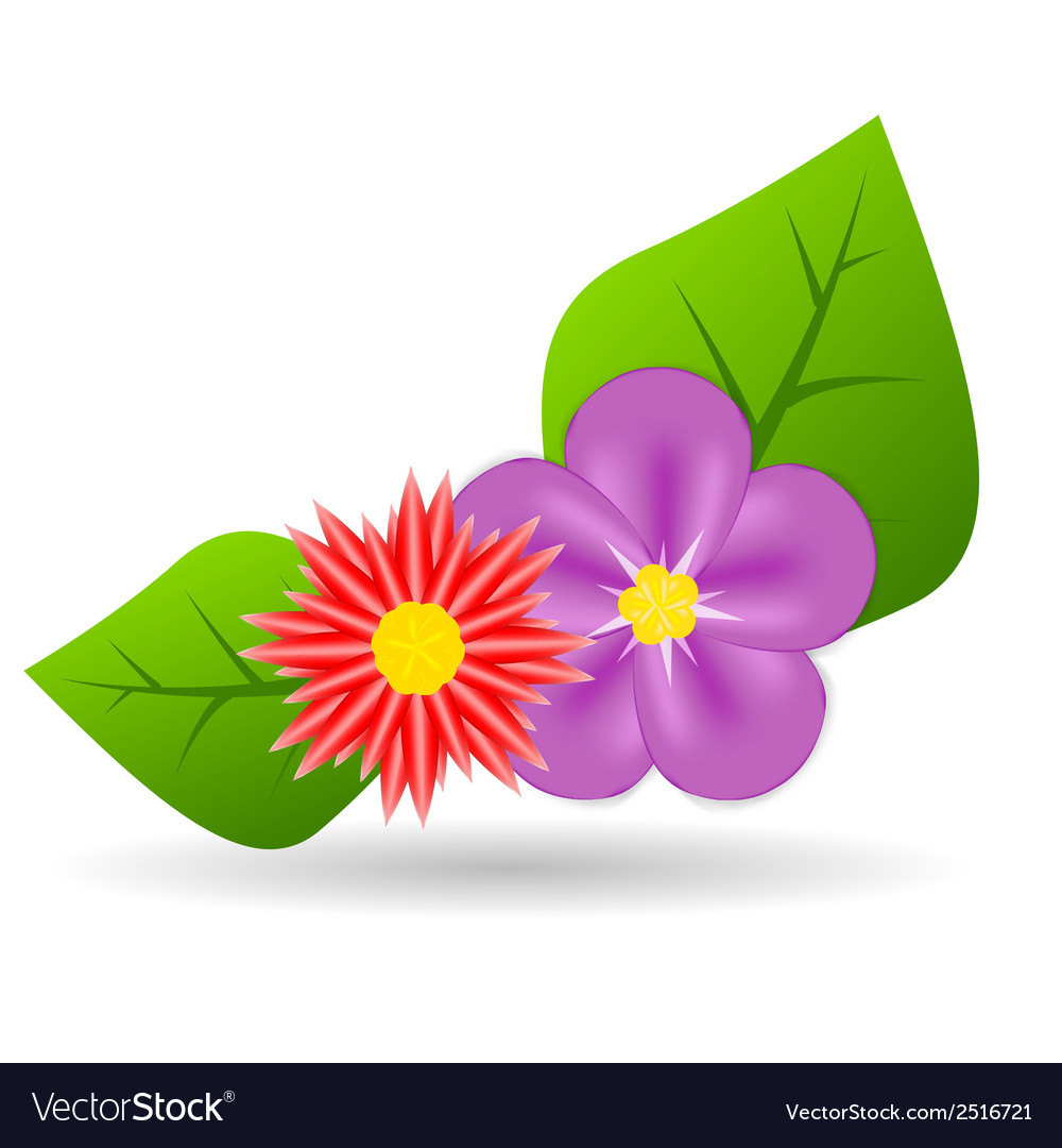 Abstract colorful flowers vector | Price: 1 Credit (USD $1)