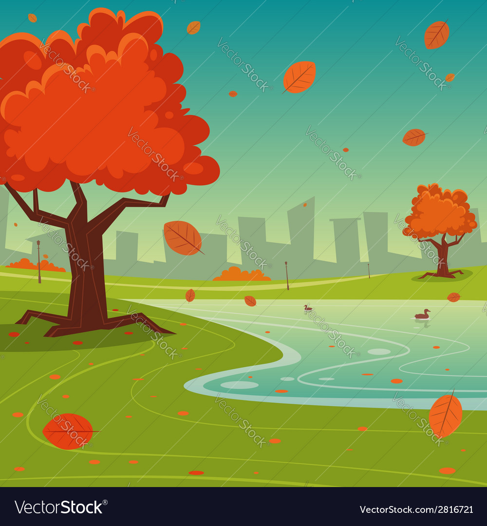 Autumn in the city vector | Price: 3 Credit (USD $3)