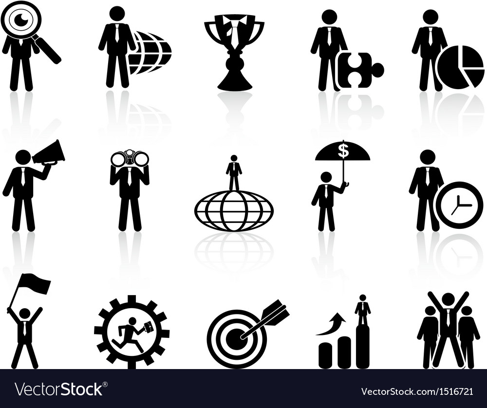 Business metaphor icons set vector | Price: 1 Credit (USD $1)