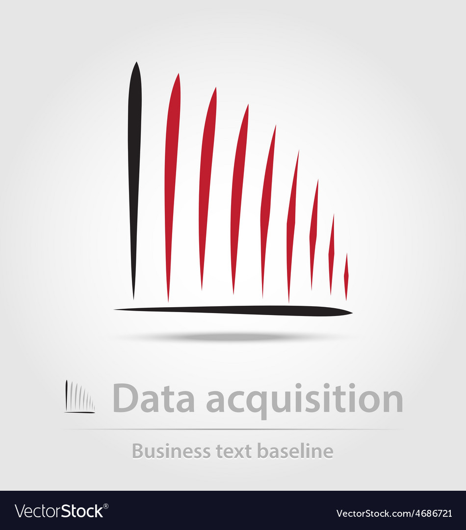 Data acquisition business icon vector | Price: 1 Credit (USD $1)