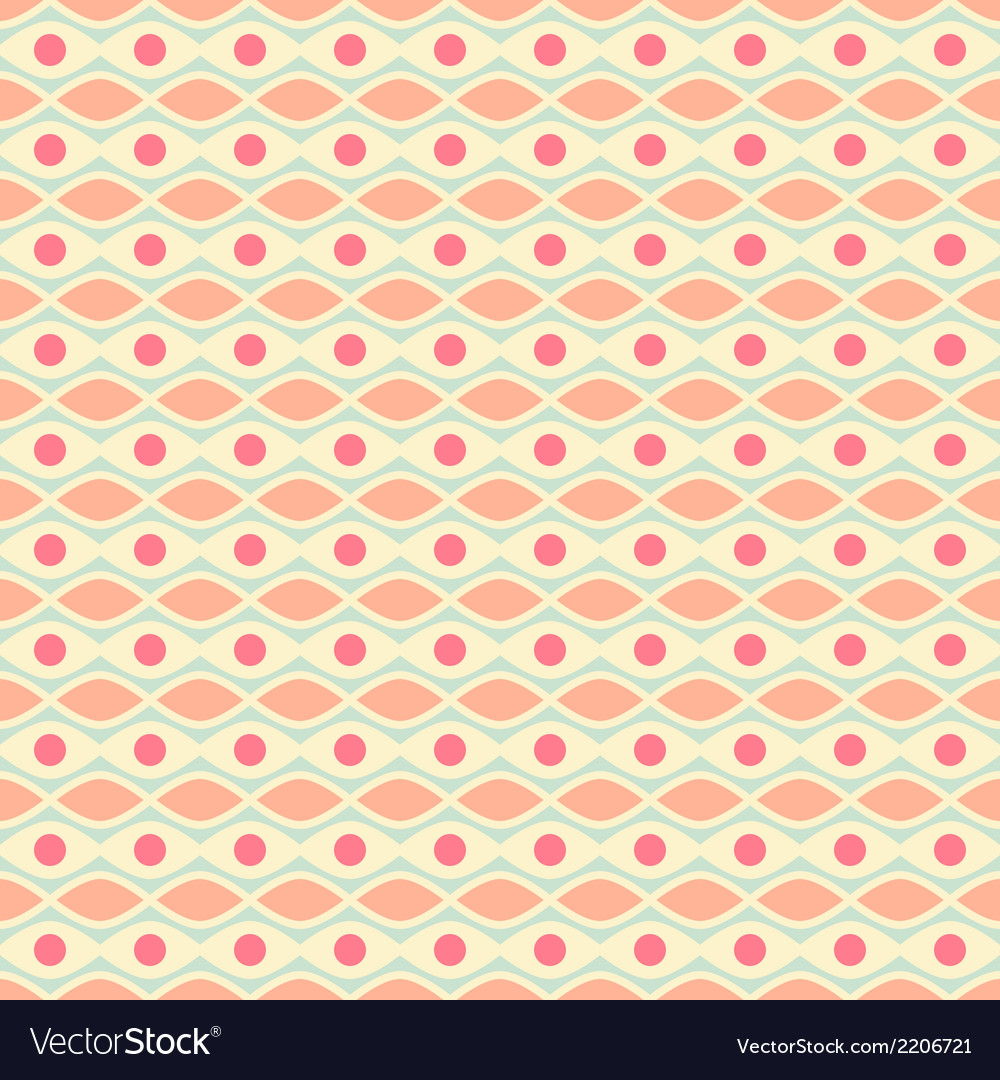 Feminine seamless pattern tiling fond pink yellow vector | Price: 1 Credit (USD $1)