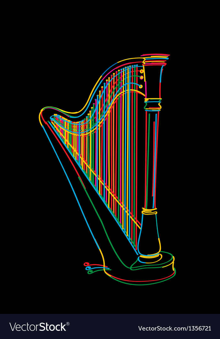 Harp sketch vector | Price: 1 Credit (USD $1)