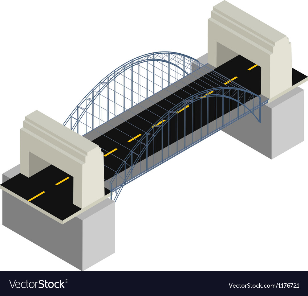 Modern bridge vector | Price: 1 Credit (USD $1)