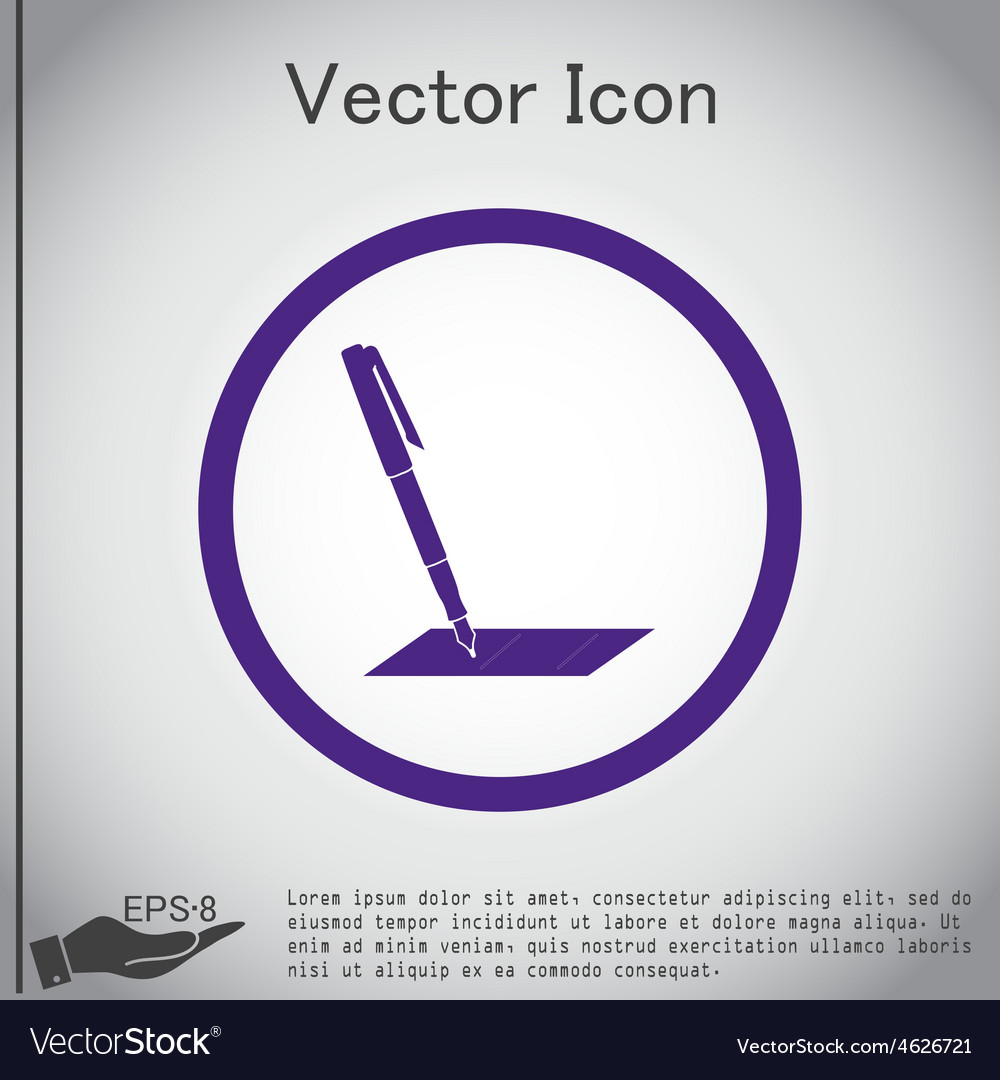 Pen or pencil writing on a sheet vector   Price: 1 Credit (USD $1)