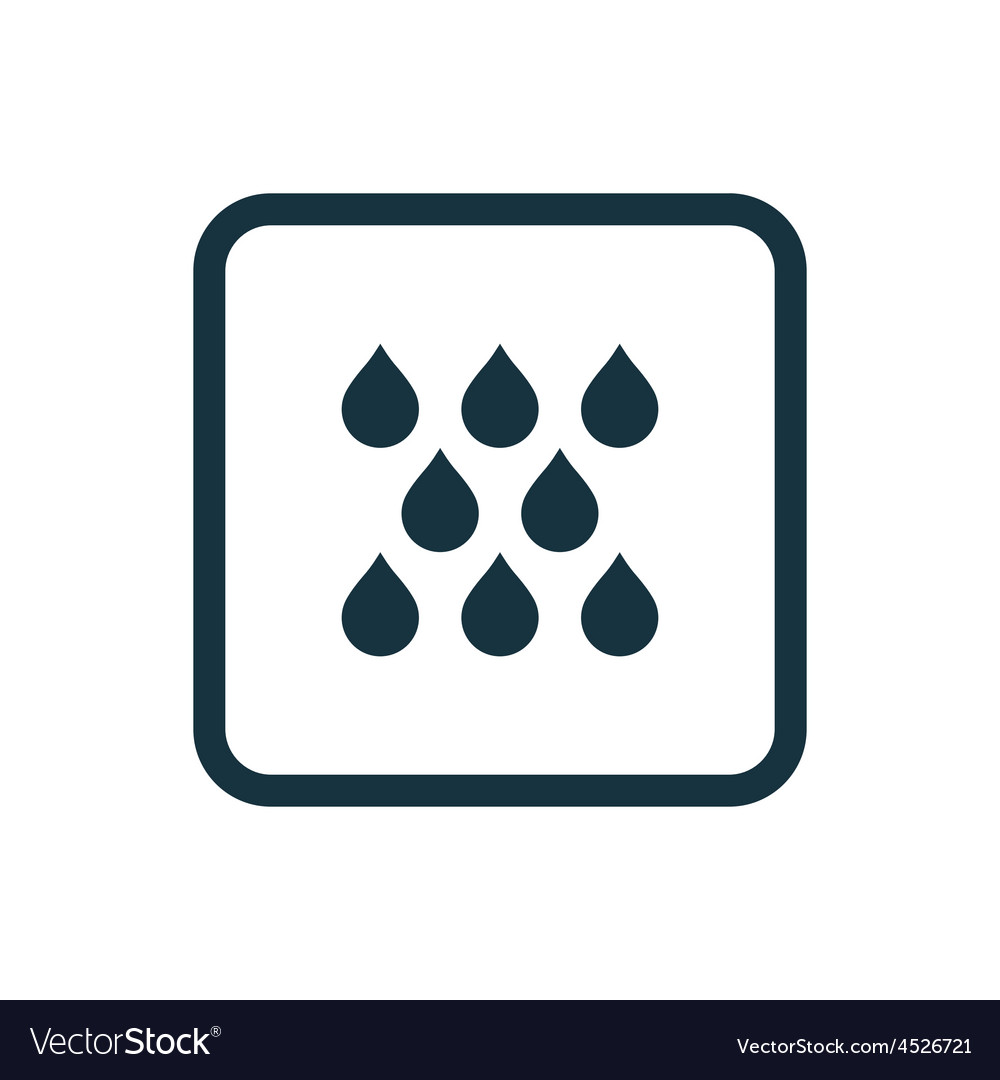 Rain icon rounded squares button vector | Price: 1 Credit (USD $1)