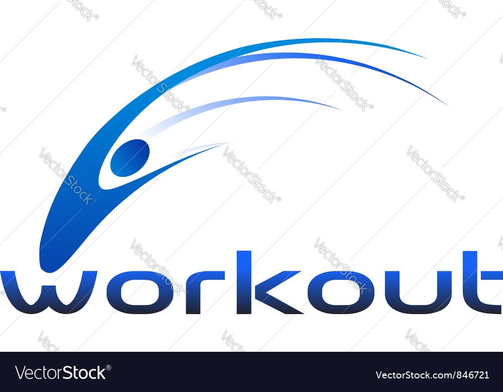 Workout logo vector
