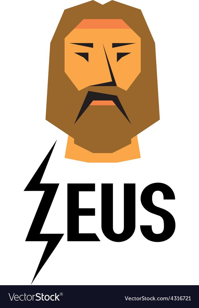 Zeus head logo with type vector   Price: 1 Credit (USD $1)