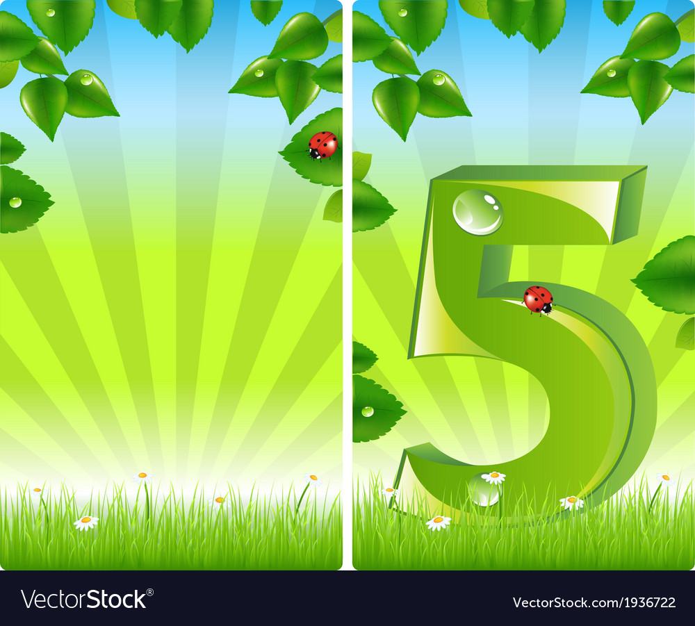 2 colorful nature banners vector | Price: 1 Credit (USD $1)