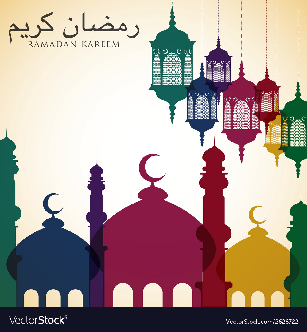 Bright ramadan card in format vector | Price: 1 Credit (USD $1)