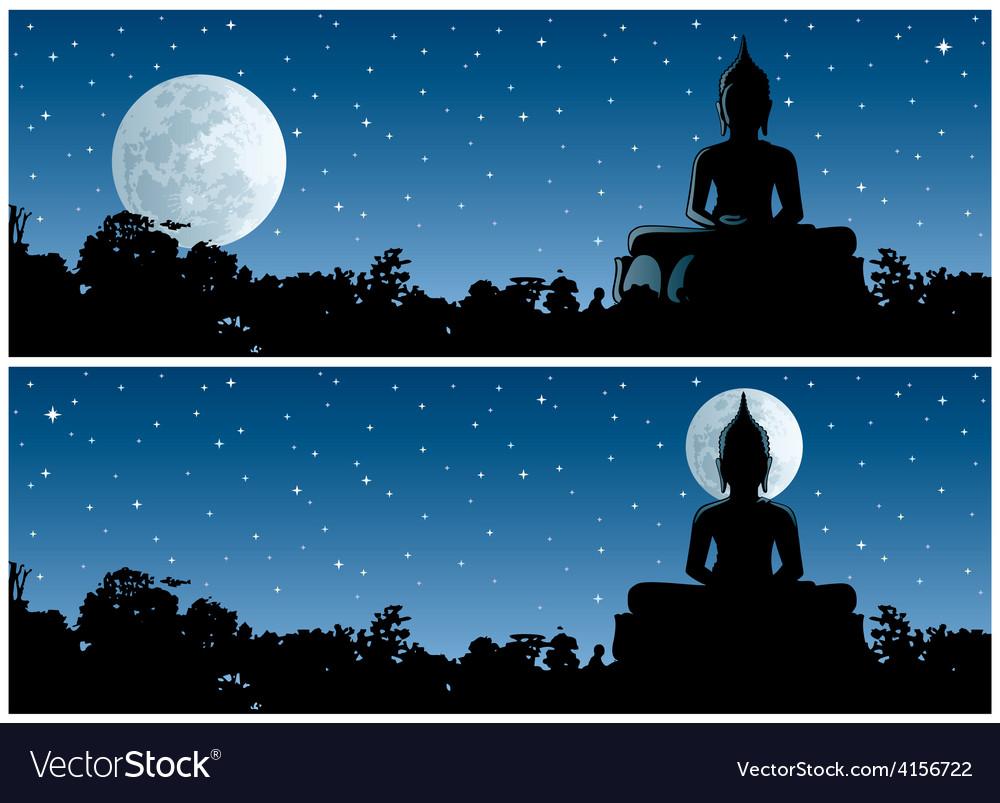 Buddha night vector | Price: 3 Credit (USD $3)