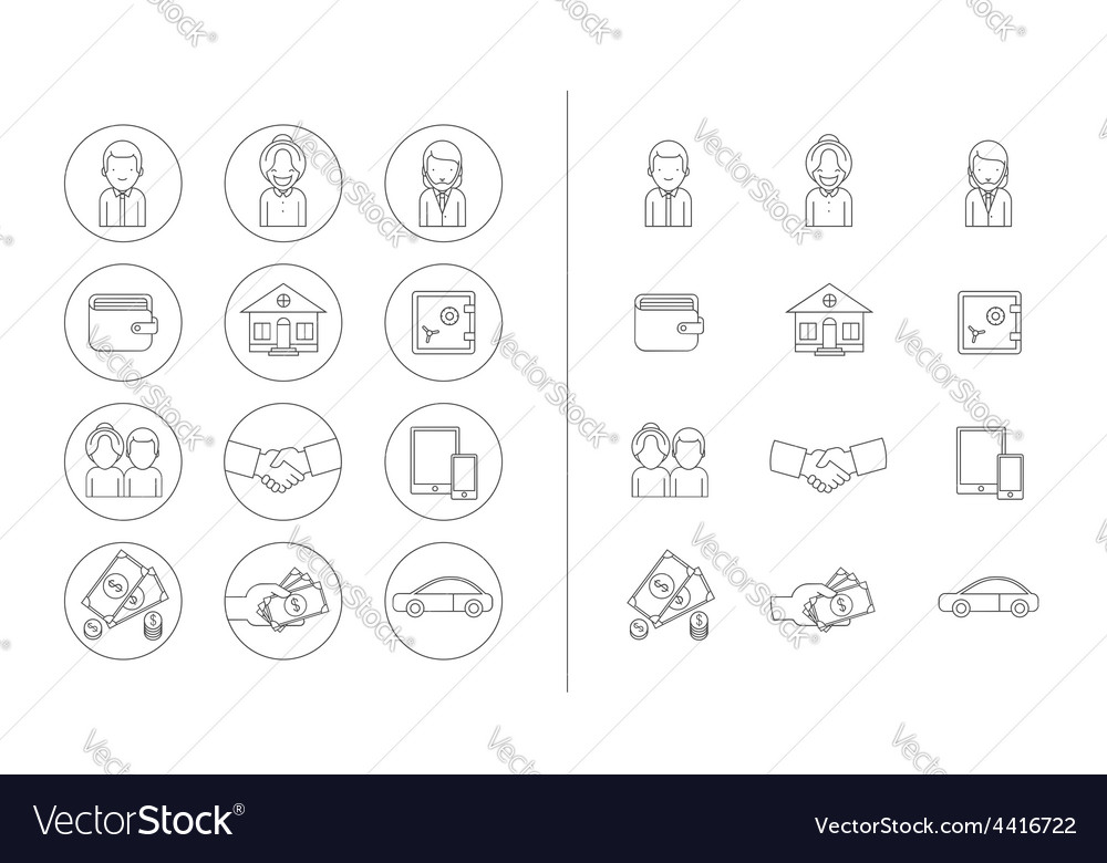 Business theme icons vector | Price: 1 Credit (USD $1)