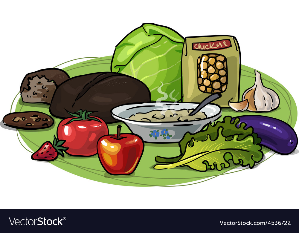 Healthy eating low-carb composition vector   Price: 1 Credit (USD $1)