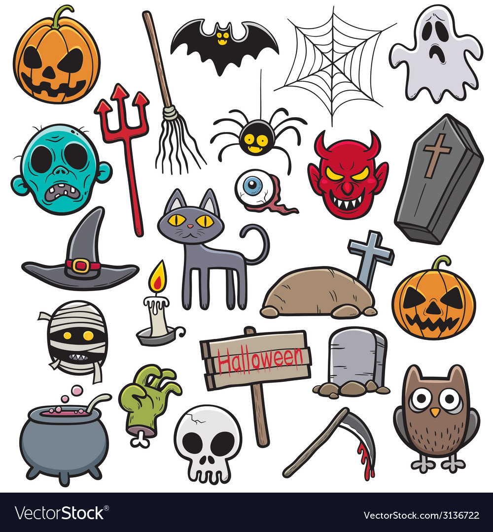 Holloween set vector | Price: 1 Credit (USD $1)