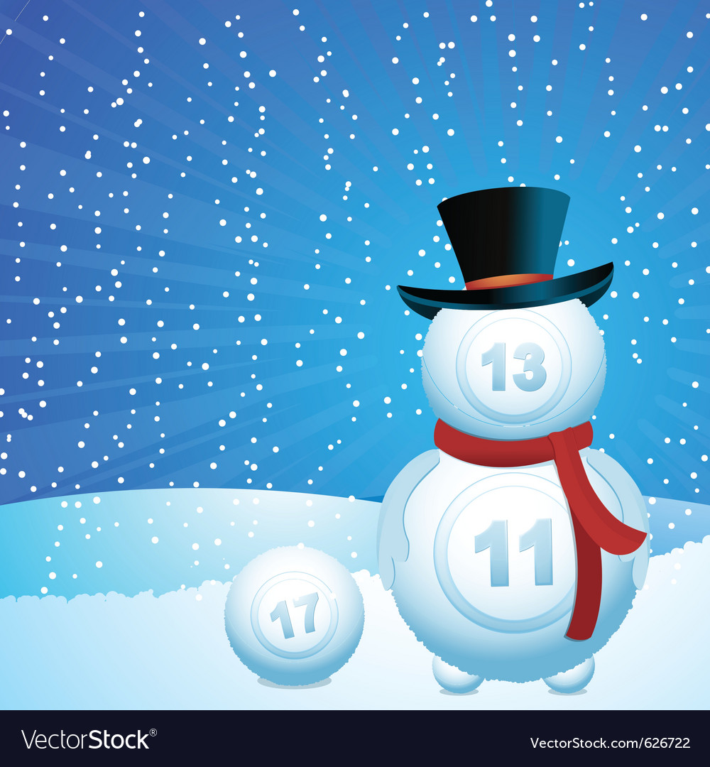 Lottery snowman vector | Price: 1 Credit (USD $1)