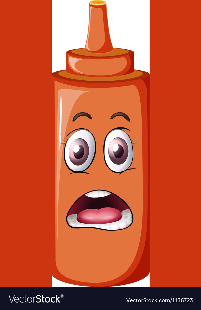 A bottle with face vector | Price: 1 Credit (USD $1)