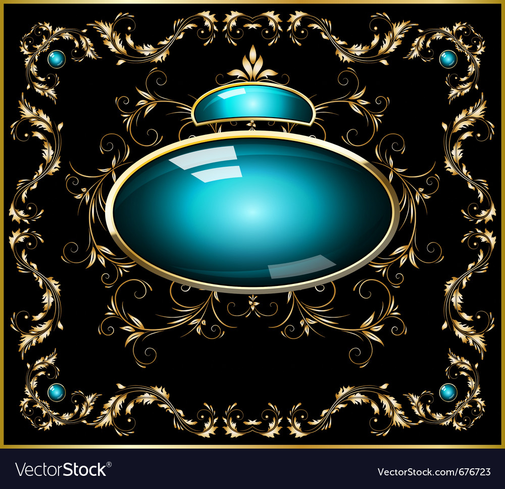 Broach with ornamental border vector | Price: 1 Credit (USD $1)
