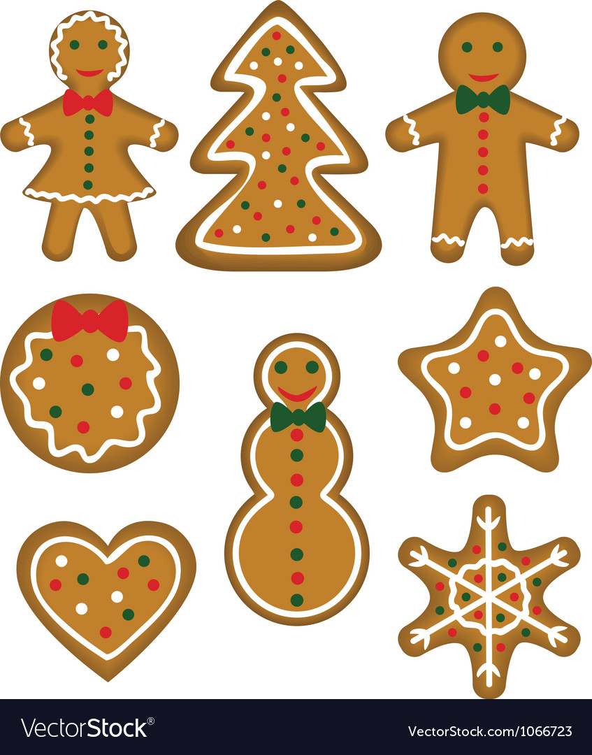 Christmas cookies set vector | Price: 1 Credit (USD $1)