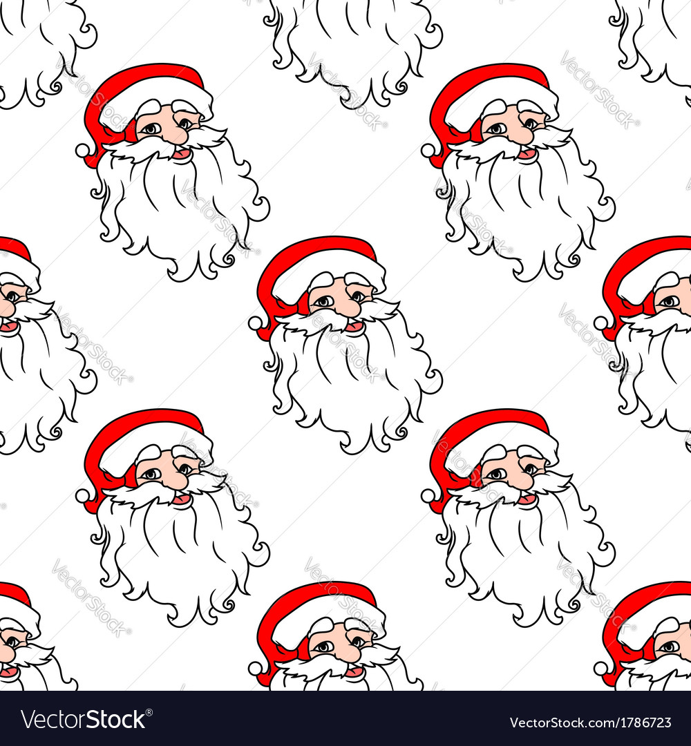 Christmas seamless pattern with santa claus vector | Price: 1 Credit (USD $1)