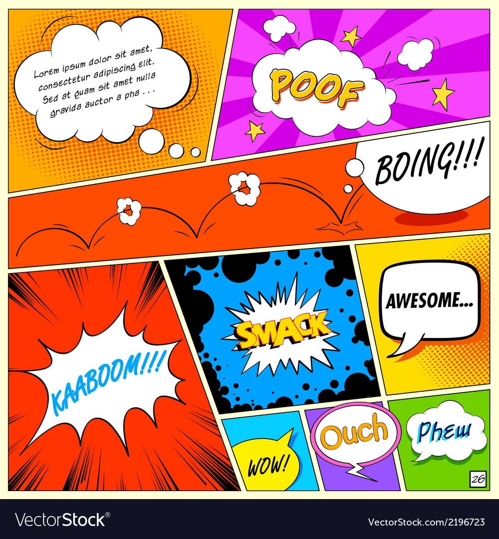 Comic speech bubble vector | Price: 1 Credit (USD $1)