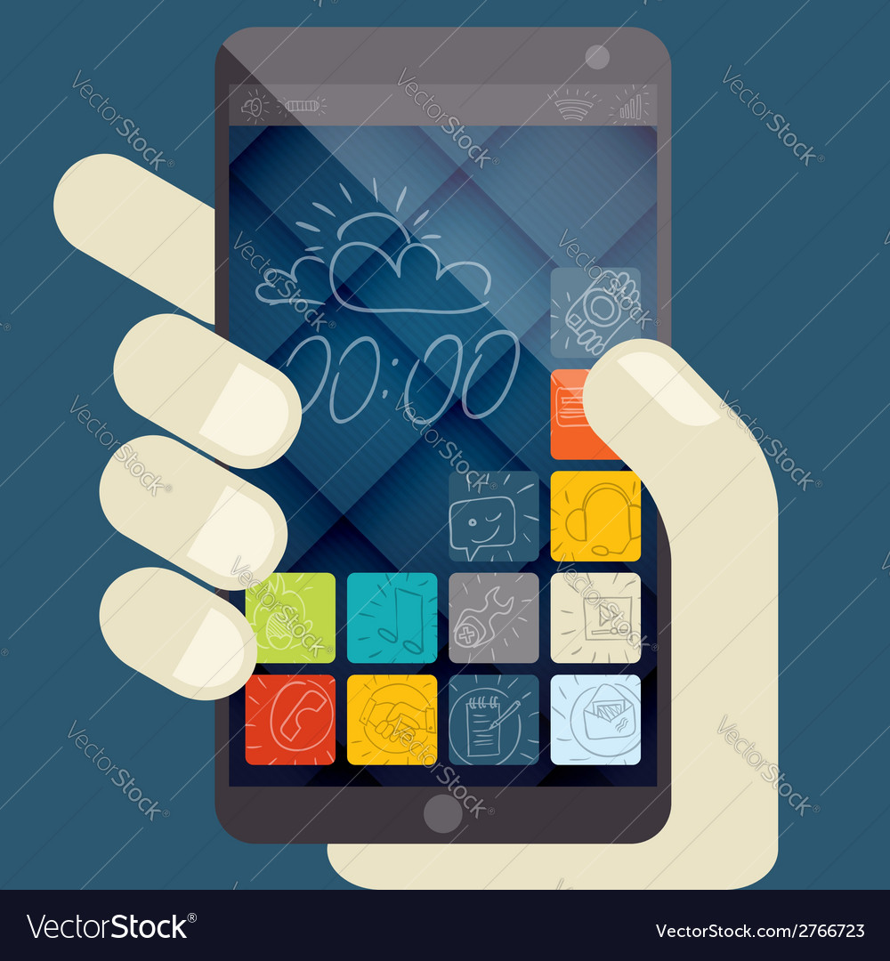 Concept for mobile apps flat design vector | Price: 1 Credit (USD $1)