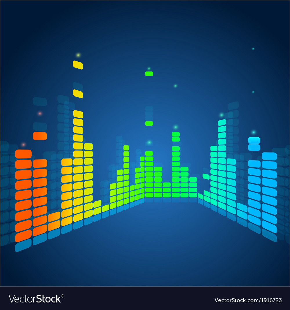 Equalizer colorful musical bar vector | Price: 1 Credit (USD $1)