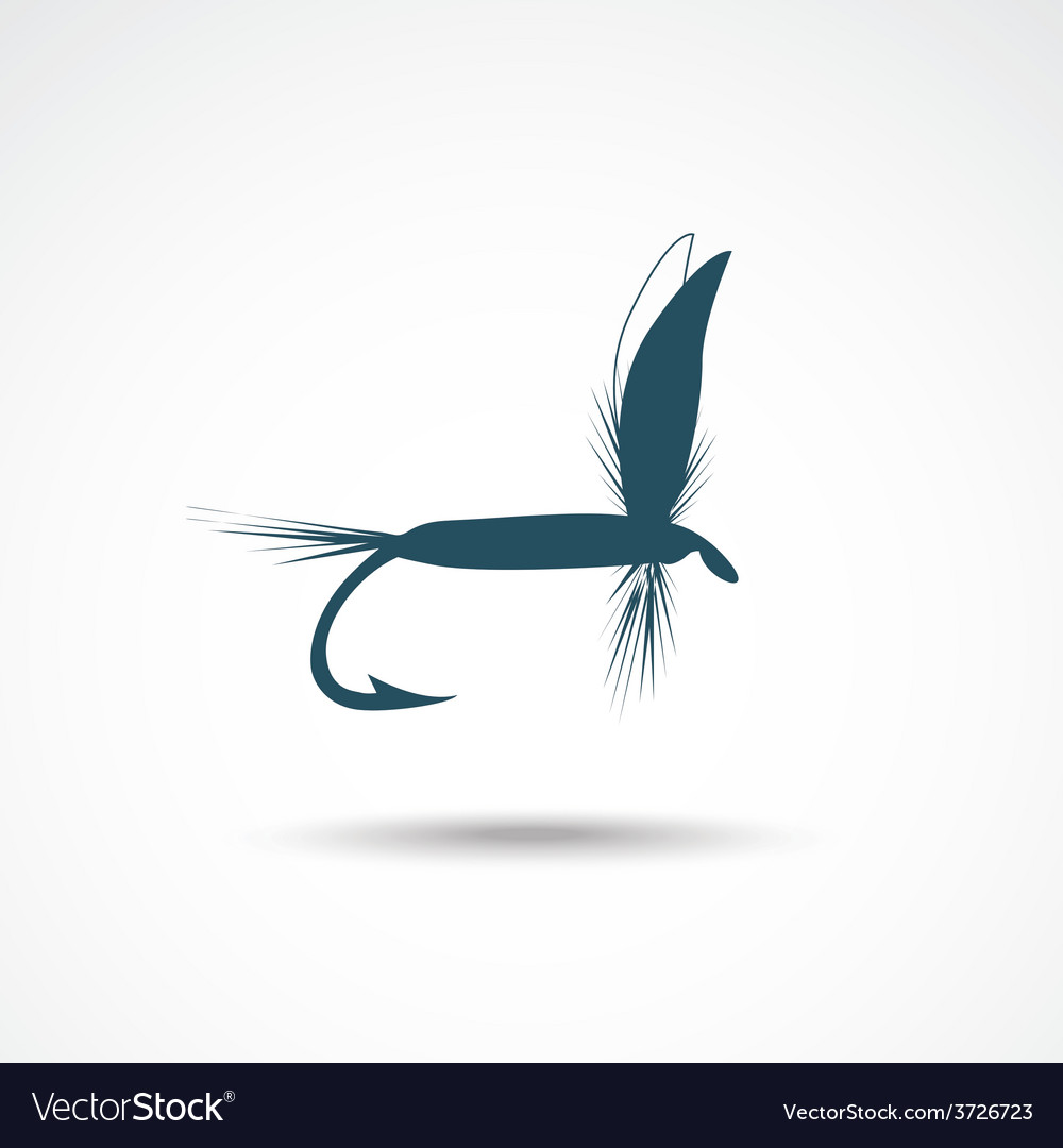 Fly-fishing vector | Price: 1 Credit (USD $1)