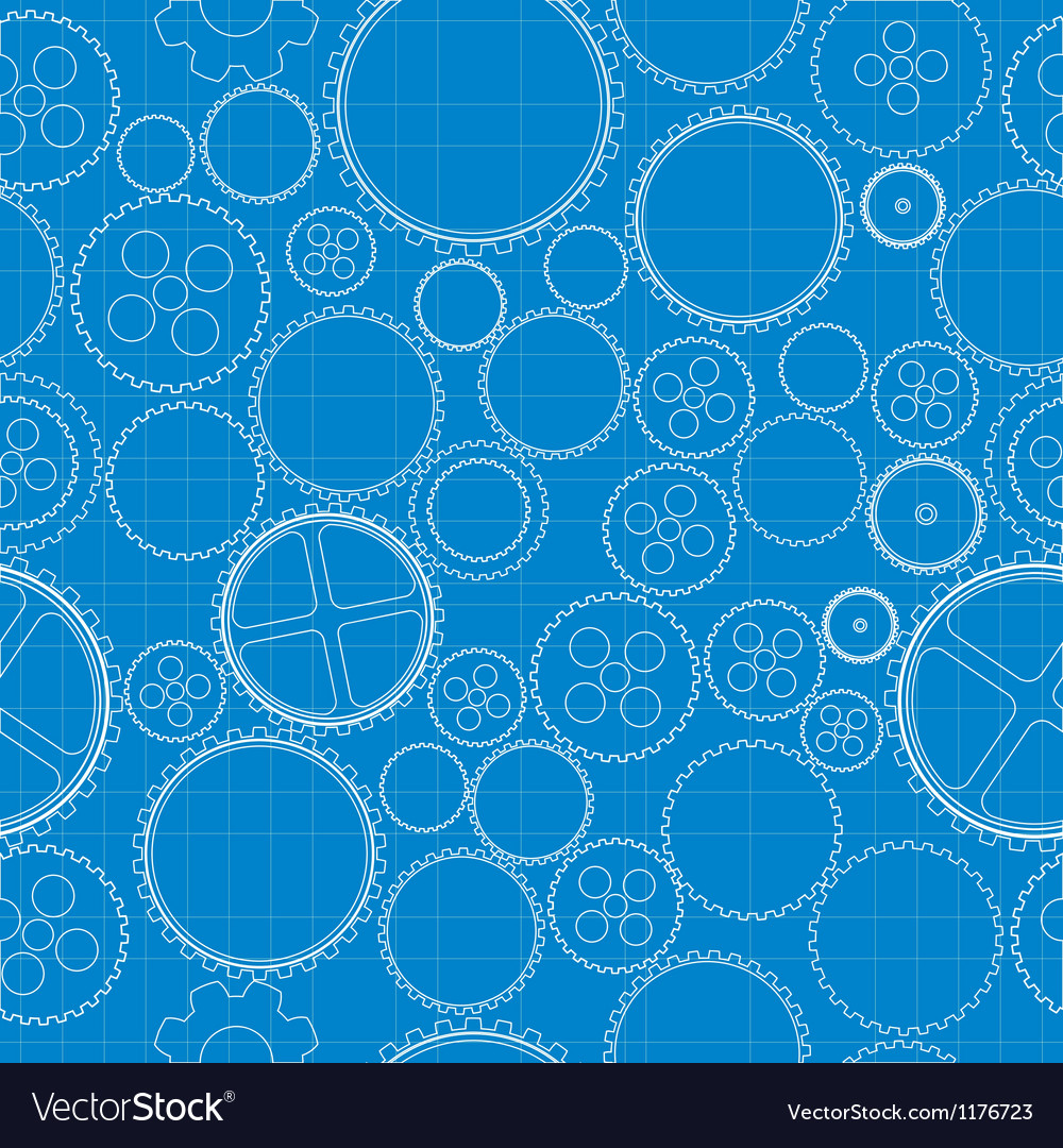 Gears blueprint vector | Price: 1 Credit (USD $1)