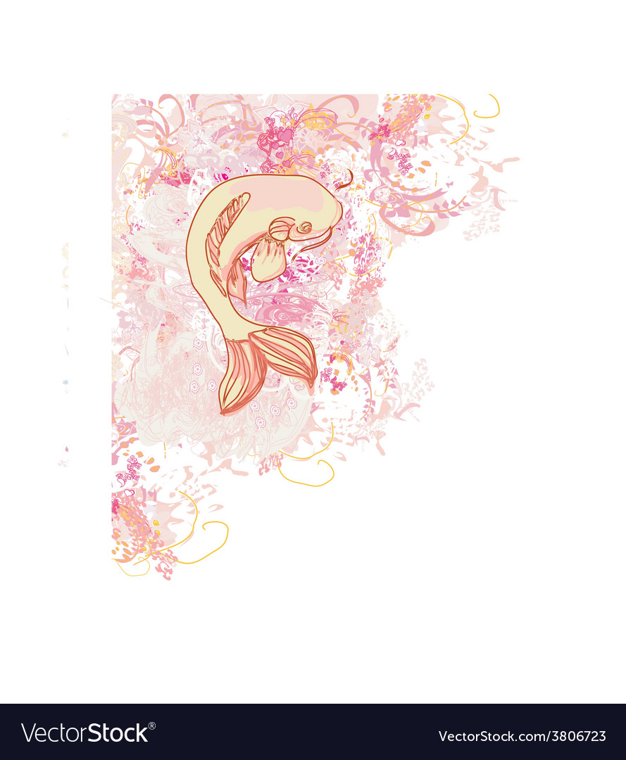 Japanese koi background vector | Price: 1 Credit (USD $1)
