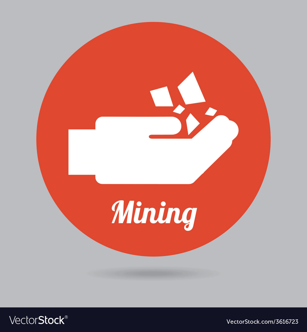 Mining icon vector | Price: 1 Credit (USD $1)