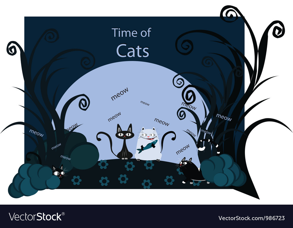 Time of cats vector | Price: 1 Credit (USD $1)