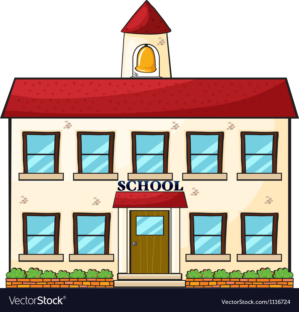 A school building vector | Price: 1 Credit (USD $1)