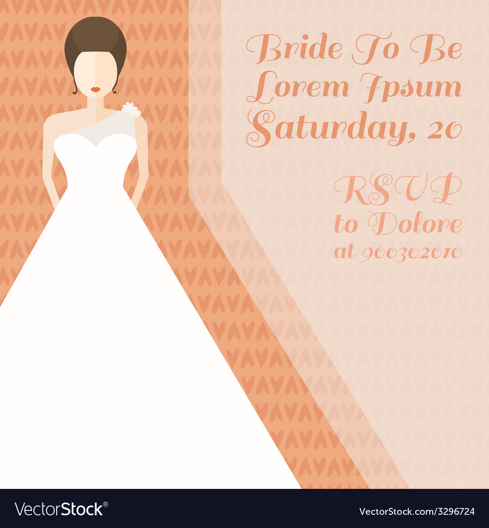 Bride in flat style vector | Price: 1 Credit (USD $1)