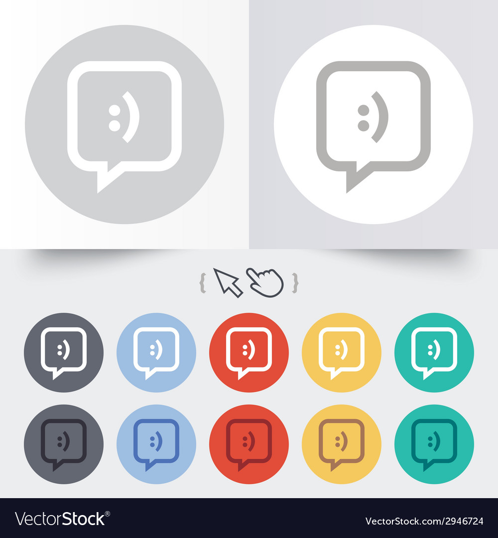 Chat sign icon speech bubble symbol vector | Price: 1 Credit (USD $1)