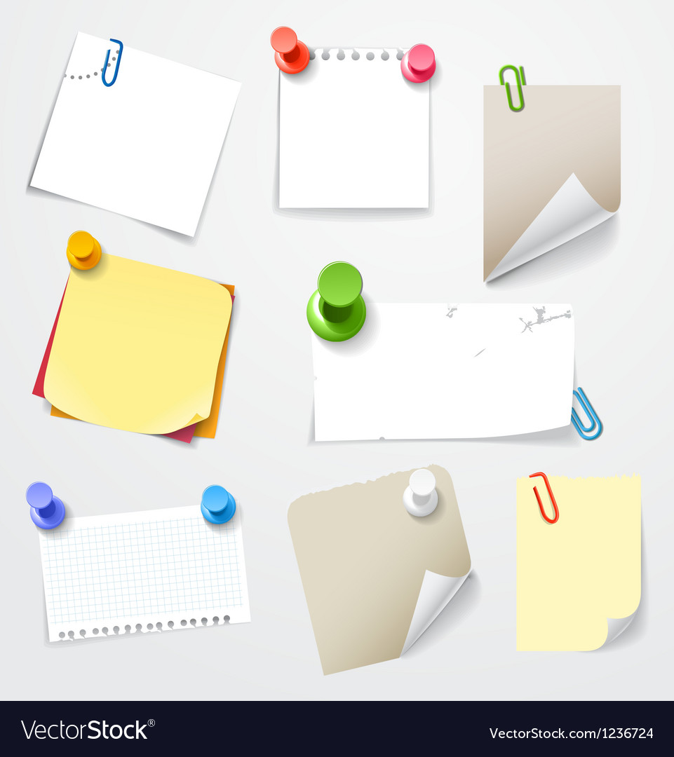 Collectionn of paper stickers vector   Price: 1 Credit (USD $1)