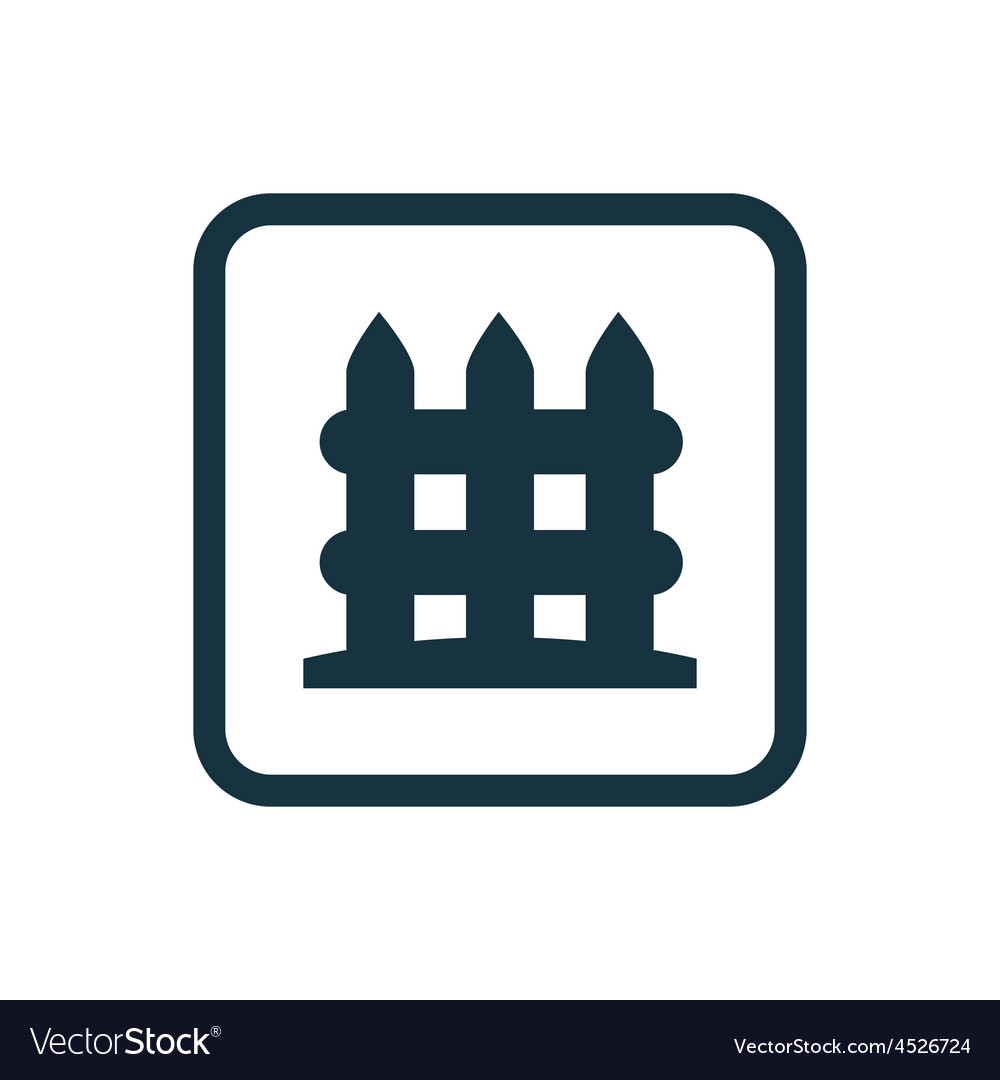 Fence icon rounded squares button vector