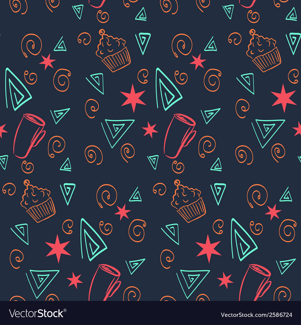 Food and drink seamless pattern vector | Price: 1 Credit (USD $1)