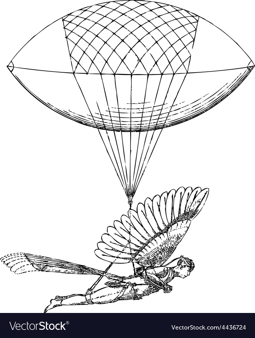 Historical flying balloon design vector | Price: 1 Credit (USD $1)