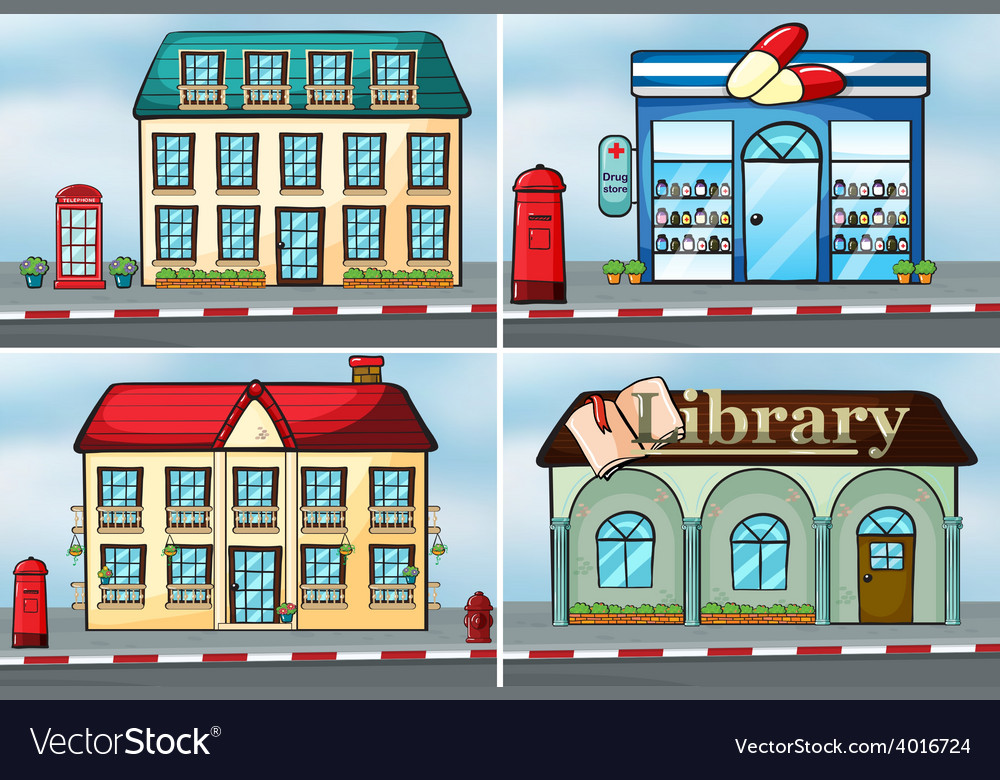 Houses and shops vector | Price: 1 Credit (USD $1)