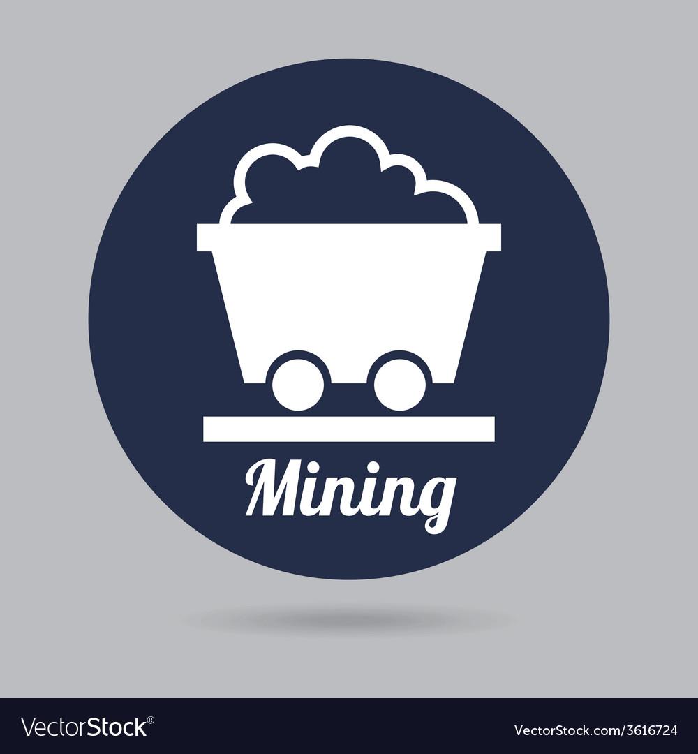 Mining icon vector | Price: 1 Credit (USD $1)