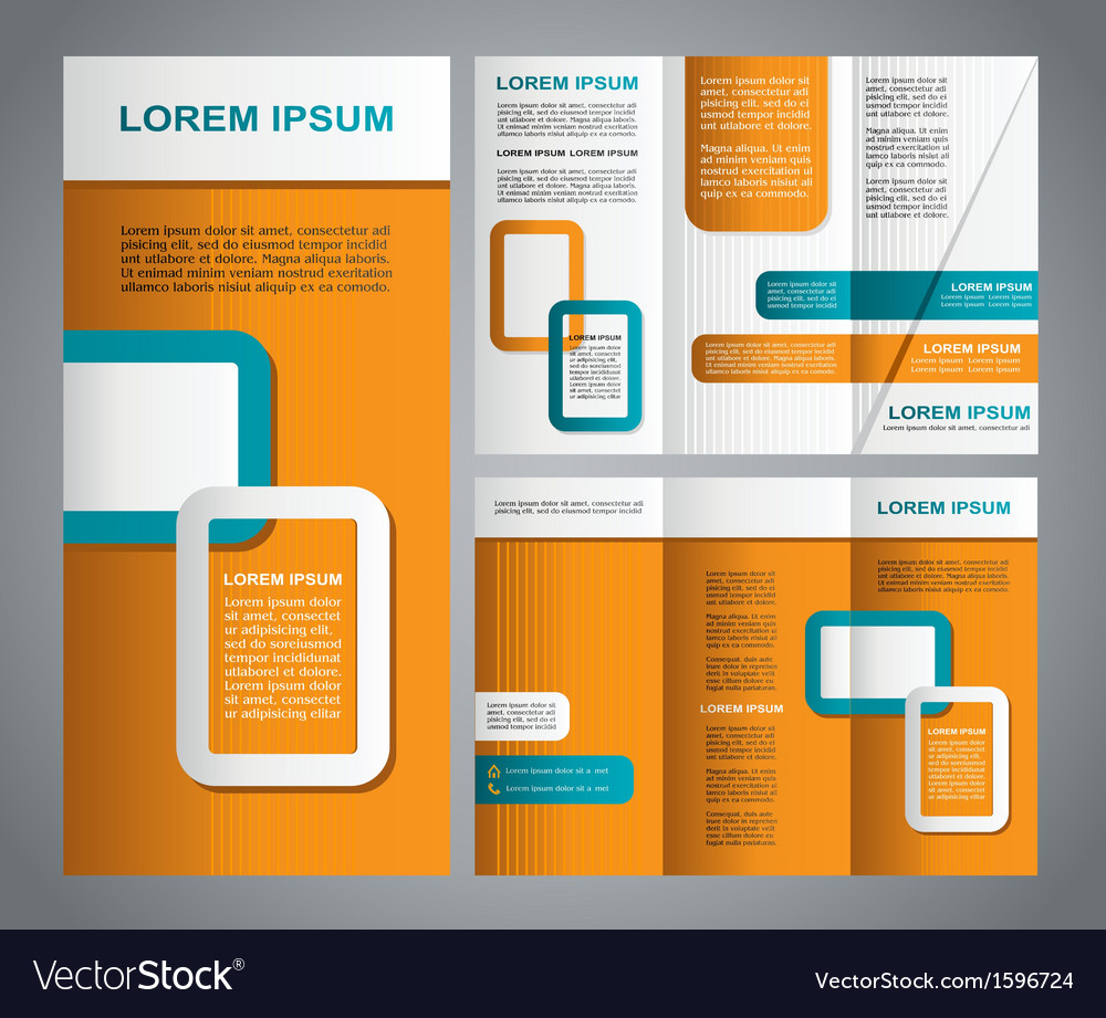 Modern brochure template vector | Price: 1 Credit (USD $1)