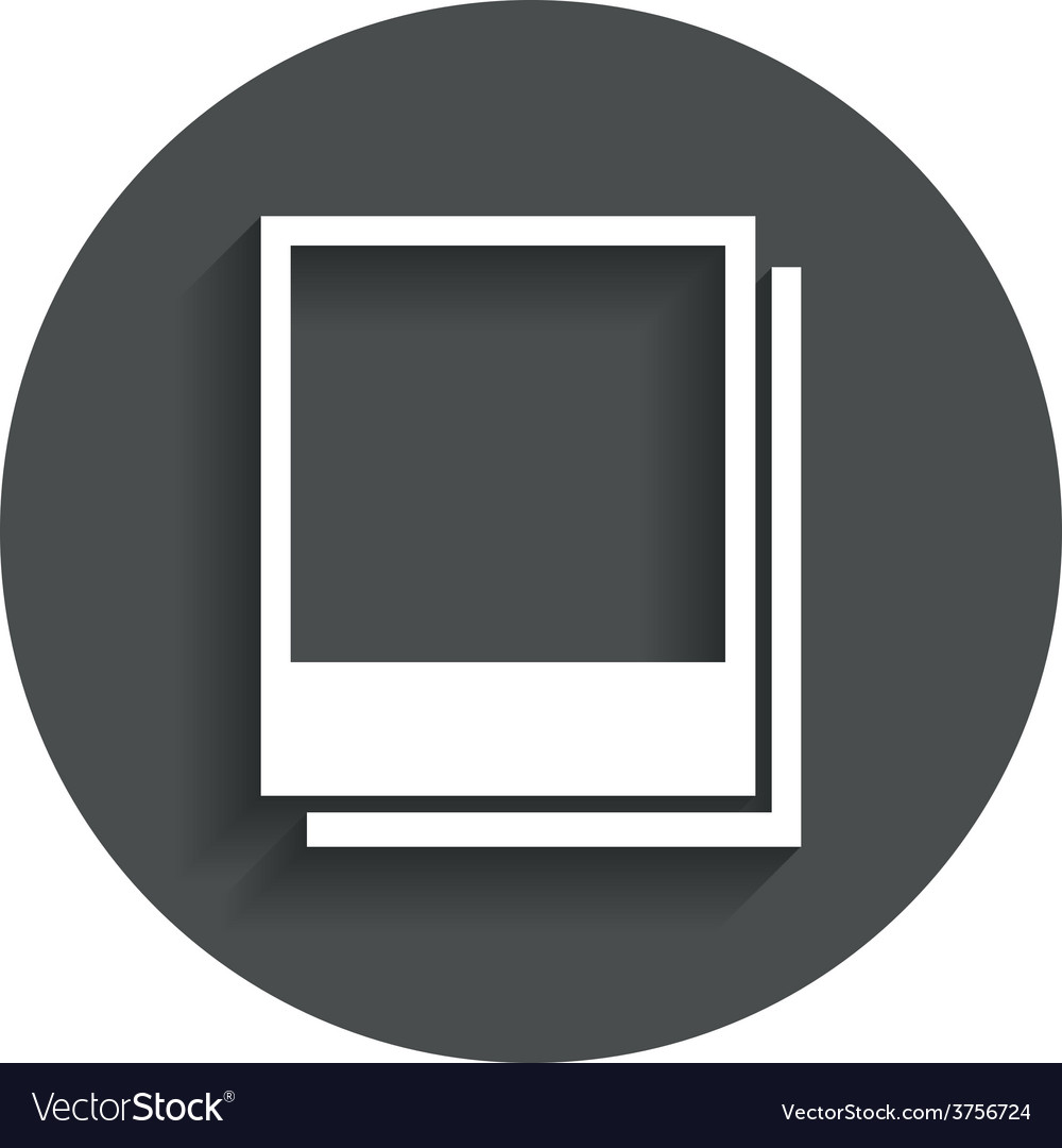 Photo frames template icon empty photography vector | Price: 1 Credit (USD $1)