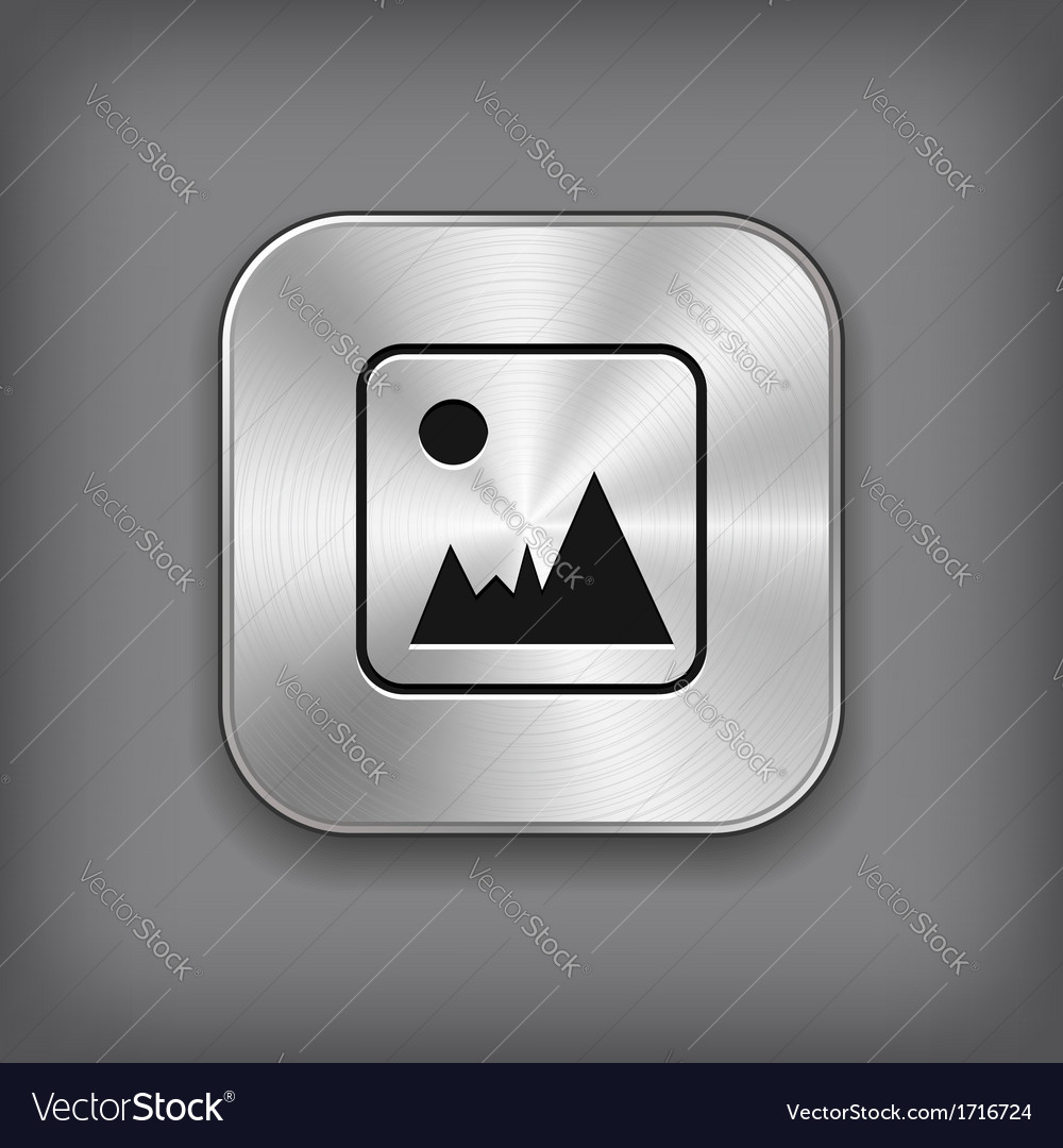 Photography icon - metal app button vector | Price: 1 Credit (USD $1)