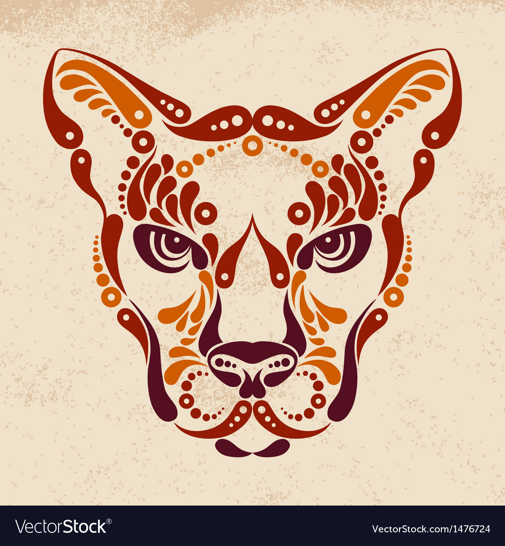 Puma tattoo vector | Price: 1 Credit (USD $1)