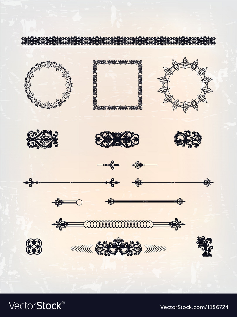 Set of abstract arabesque pattern vector | Price: 1 Credit (USD $1)