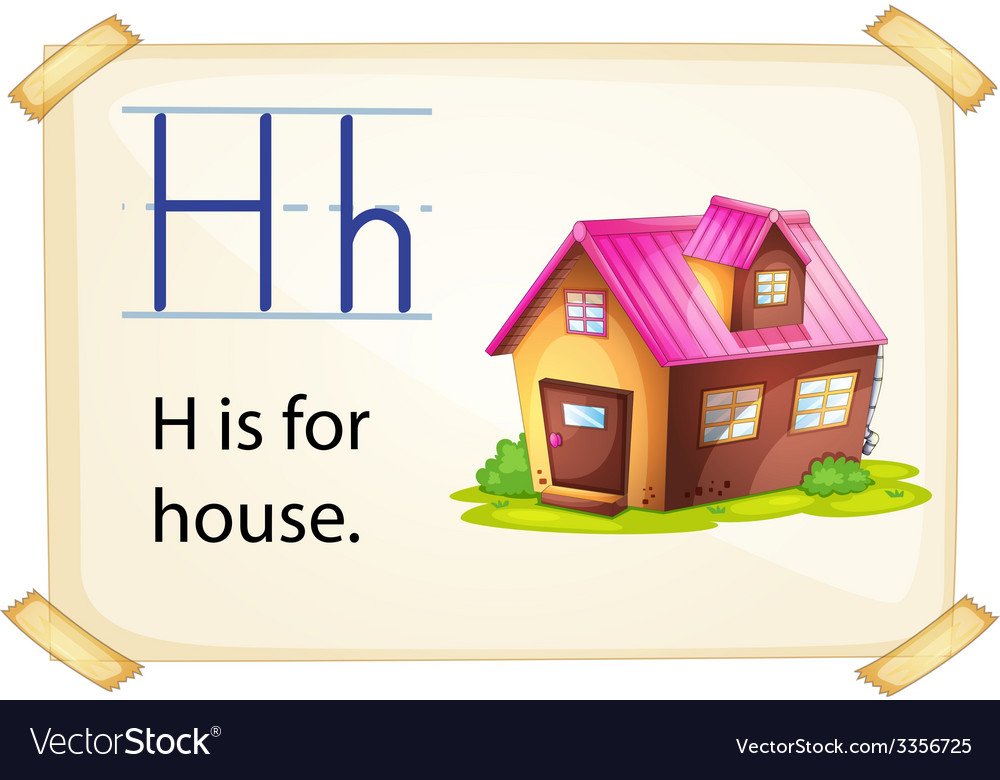 A letter h for house vector | Price: 3 Credit (USD $3)