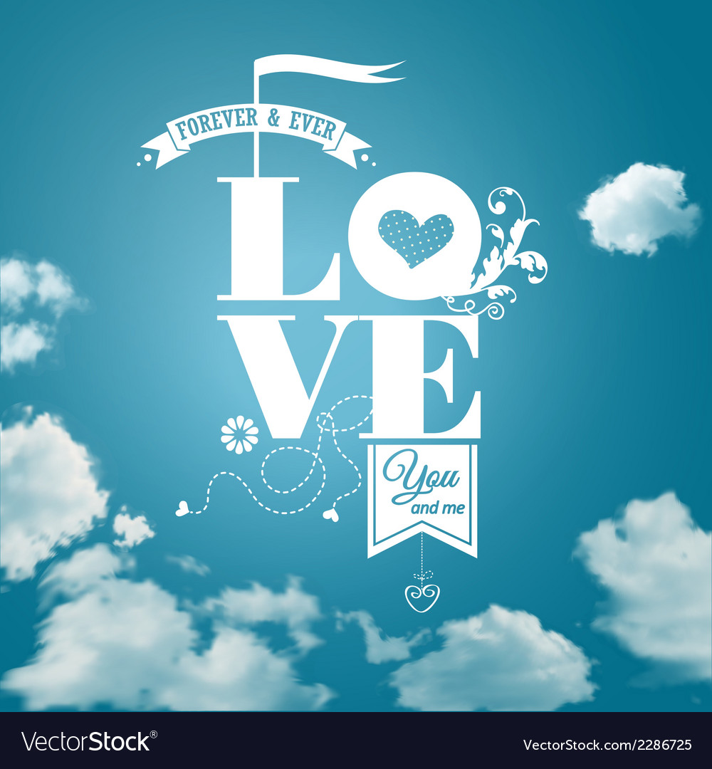 Abstract romantic card realistic sky background vector | Price: 1 Credit (USD $1)