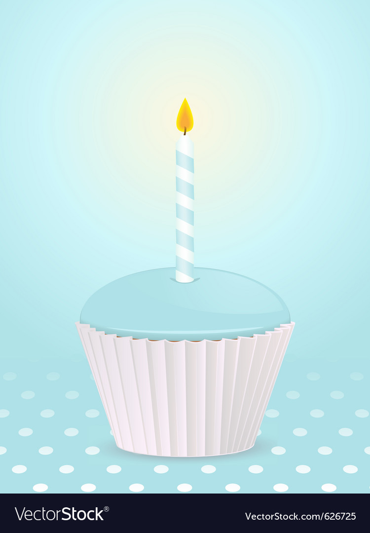 Birthday cupcake vector | Price: 3 Credit (USD $3)