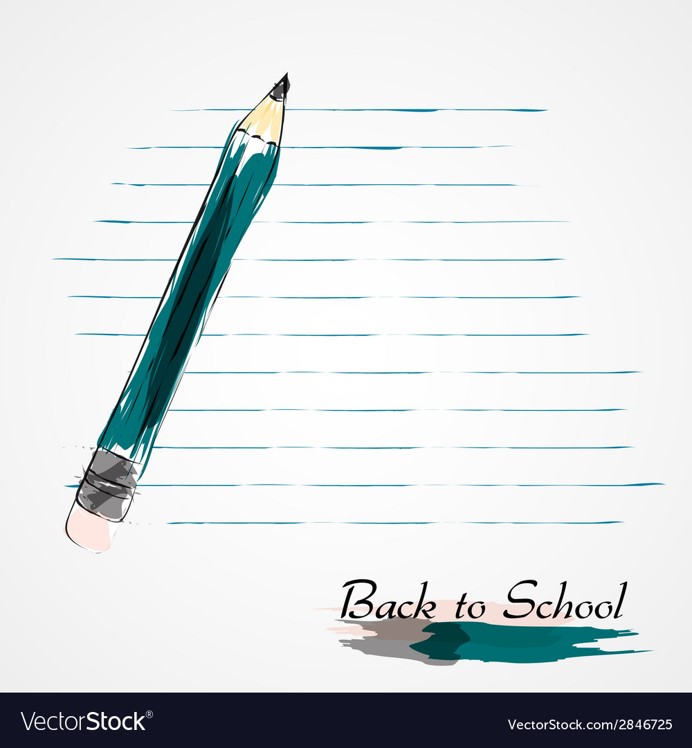 Blue pencil vector | Price: 1 Credit (USD $1)